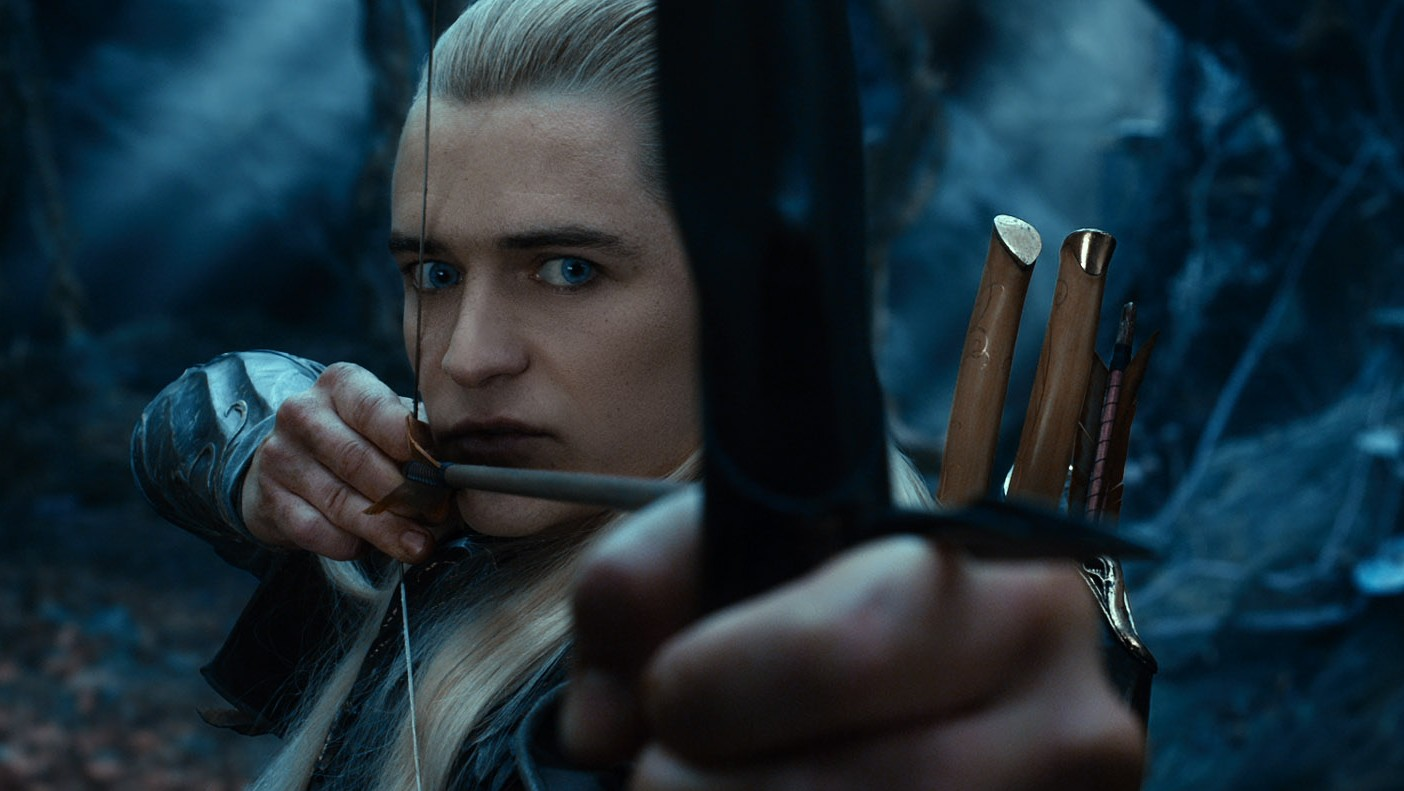 I like how they never actually show any of the elves firing their bows, just prepping arrows. Also dragon.